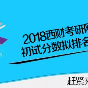 最新版本-2018西财考研初试成绩拟排名